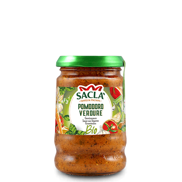 Organic tomato sauce with vegetables