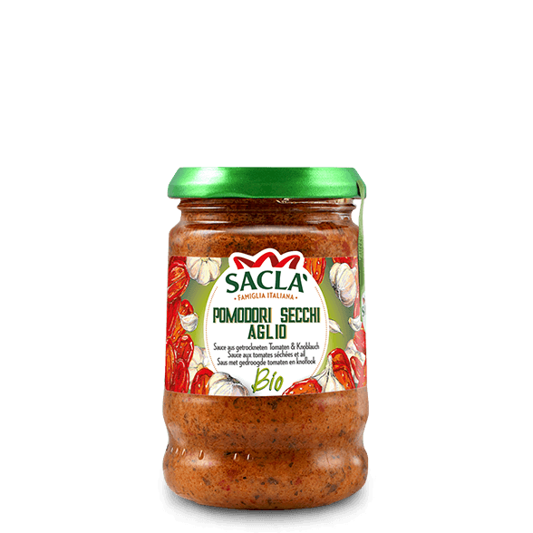 Organic sun-dried tomato and garlic pasta sauce
