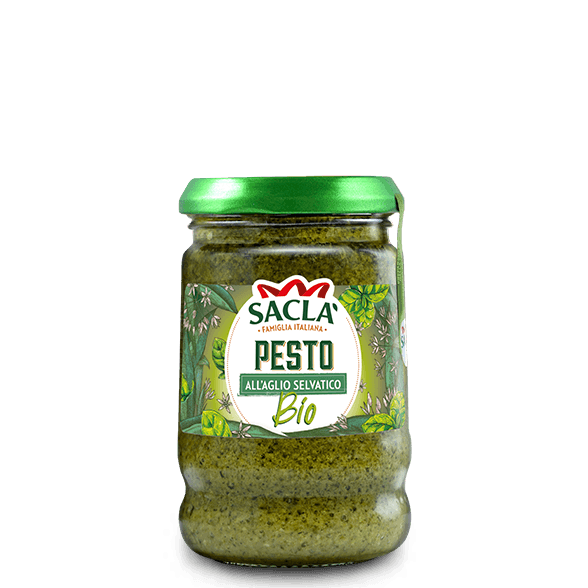 Organic wild garlic pesto