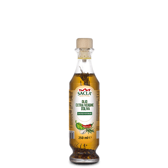 Extra virgin olive oil seasoning with herbs and spices
