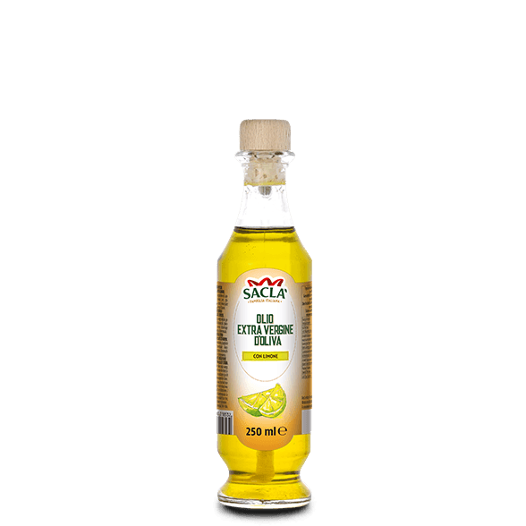 Extra virgin olive oil seasoning with lemon