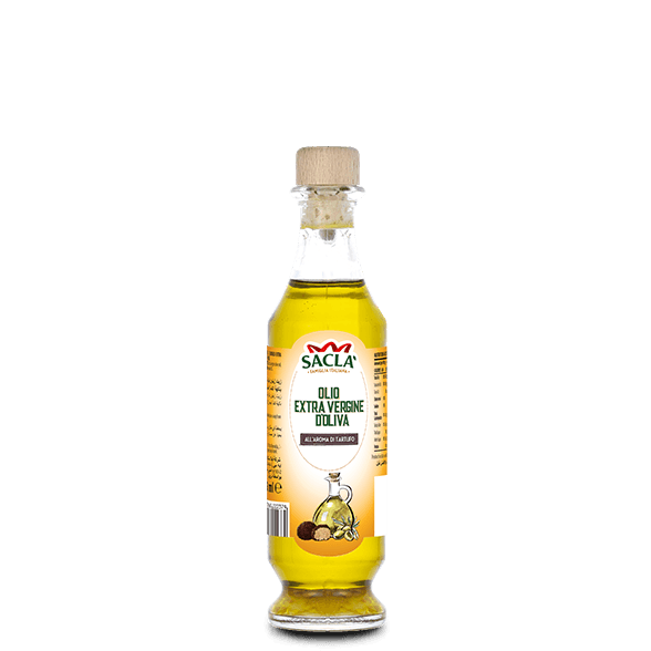 Extra virgin olive oil seasoning with truffle aroma
