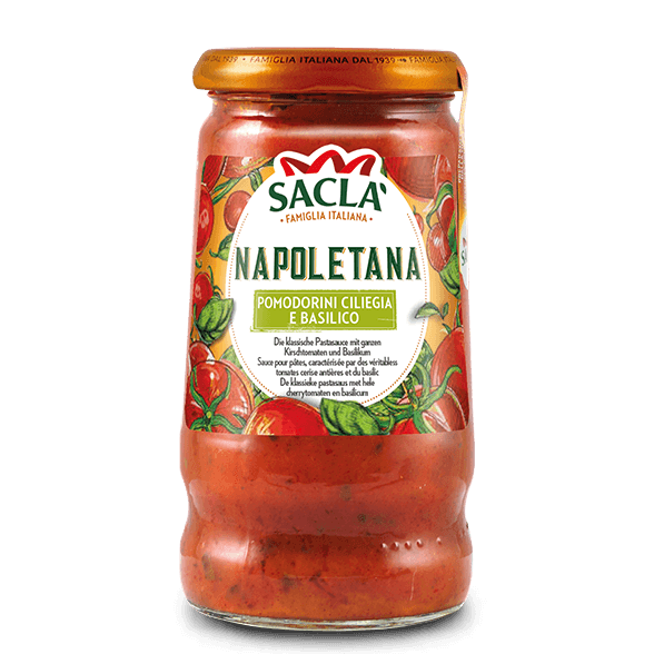 Napoletana – cherry tomatoes and basil (350g)